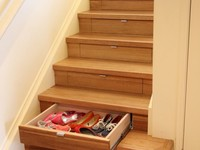 The InStep Drawer is an innovative storage solution that makes convenient storage of a once unusable space under the staircase